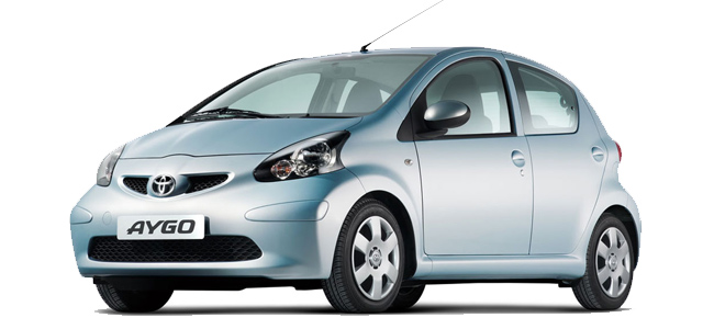 Toyota Aygo Oscar Rent a car all over Crete