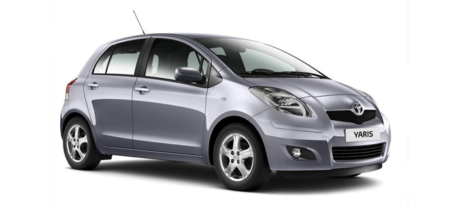 Toyota Yaris Oscar Rent a car all over Crete