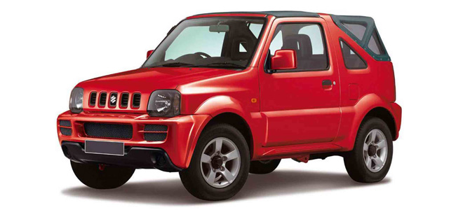 Suzuki Jimny Oscar Rent a car all over Crete