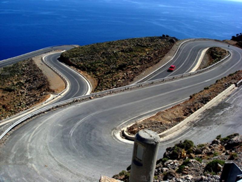 Road of Sfakia-anopolis - Oscar Rent a car all over Crete