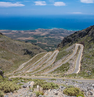Road of Kallikratis - Kapsodasos - Oscar Car - Rent a car all over Crete
