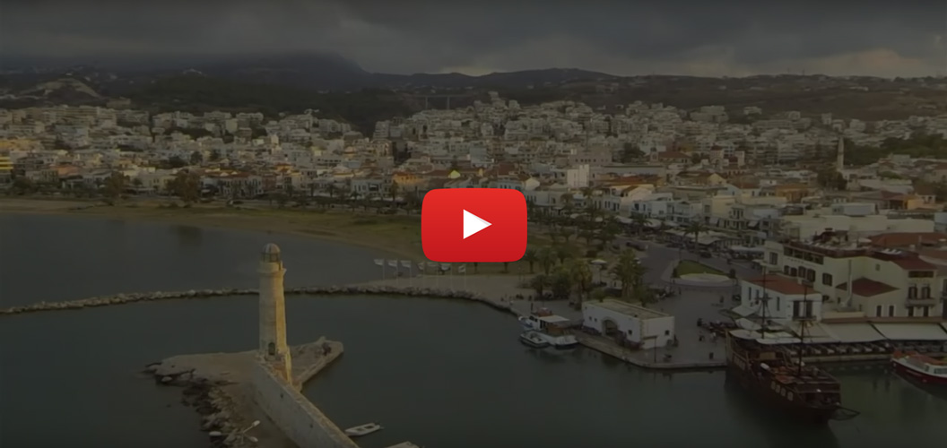 Rethymno from above - - Oscar Rent a car all over Crete